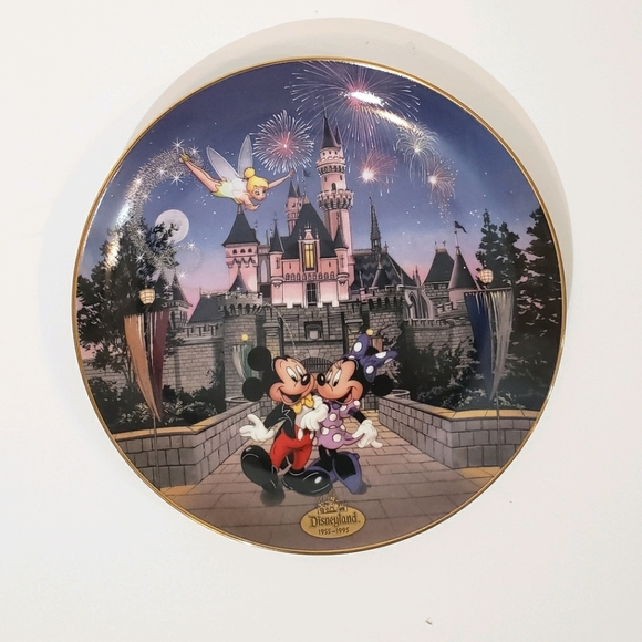 Disneyland 40th anniversary collectable plate